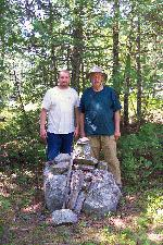 Message cache cairn on McIntyre