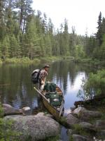 Thomas on Portage from Sarah into Side Lake Quetico 2008