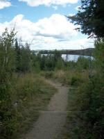 Looking down the path at Seagull Lake