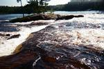 Here's why we portage. The portion of the falls above this are nice compatred to this drop!