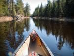 Canoeing the channel east into Mudro Lake.