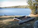 Campsite on the north side of the southern basin of Gun Lake.