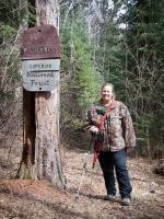 Officially entering the BWCA about halfway along the 2.4 mile trail between the parking lot and Angleworm Lake.