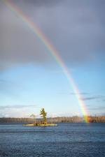 Rainbow over Clearwater Lake.