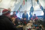 Visiting with the Midwest Mountaineering folks.