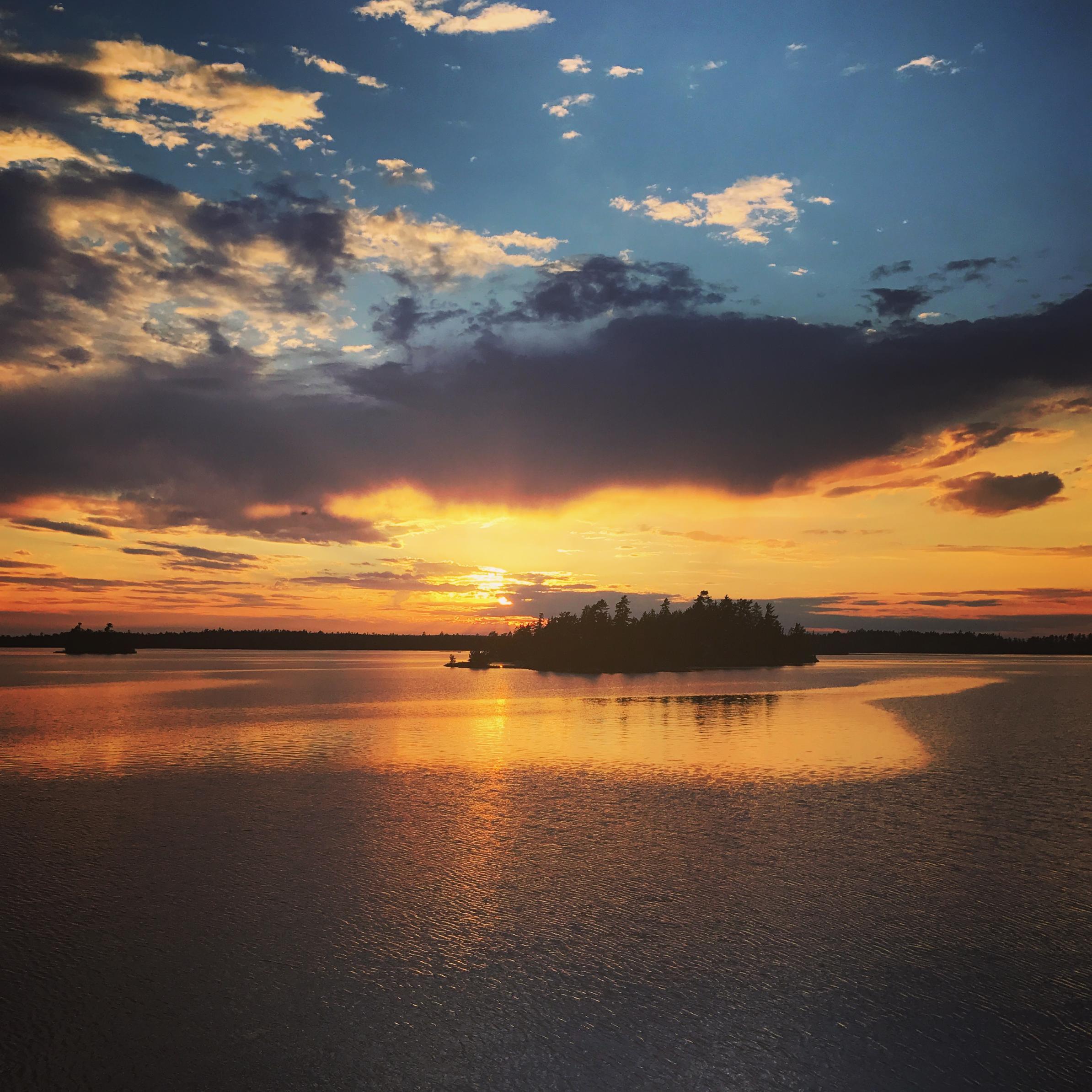 Sun Set on Saganaga