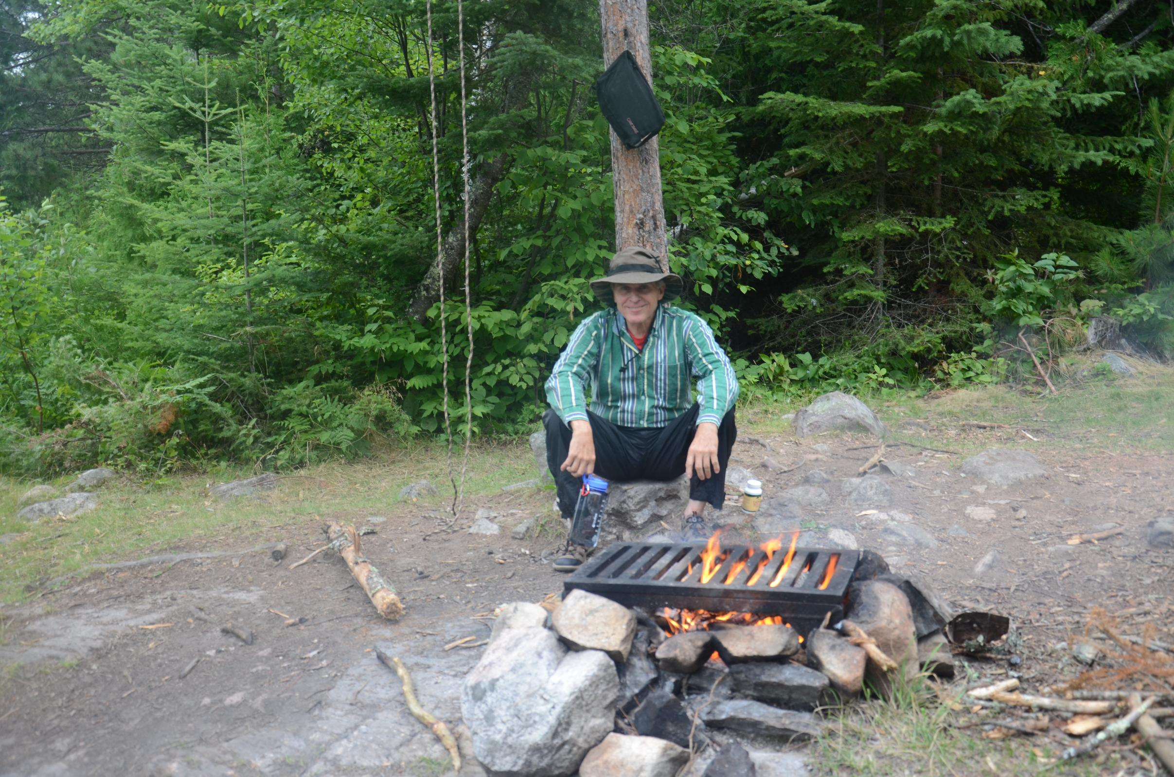 01 - Grandpa by the fire 7/16/2015