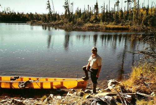 John & canoe