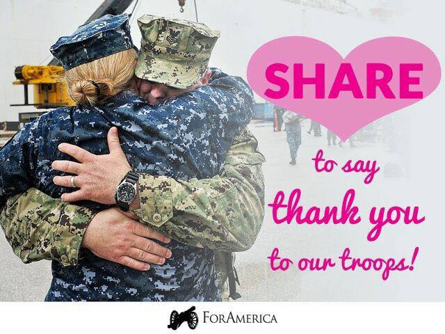 Happy Valentine's Day to our Troops