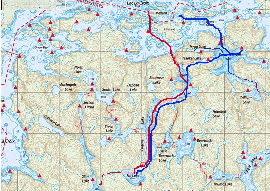 Boundary Waters, Trip Reports, BWCA, Stories on map of mn lakes, map of ely lakes, map of minnesota lakes, map of eastern united states lakes, map of gunflint trail lakes,