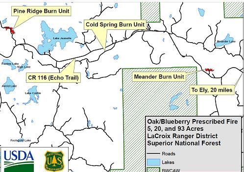 BWCA Forest Service controlled burn for April \'17 Boundary Waters ...