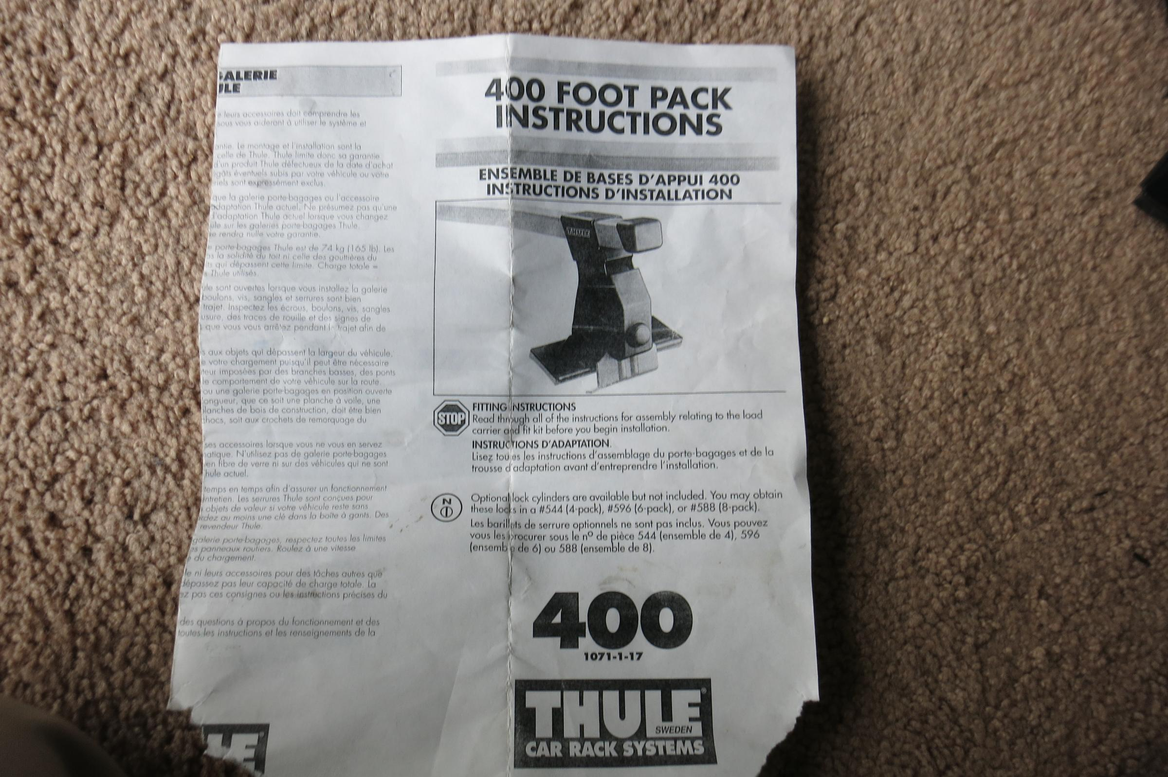 Bwca Thule 400 Foot Pack With 206 Fit Kit Free Boundary Waters