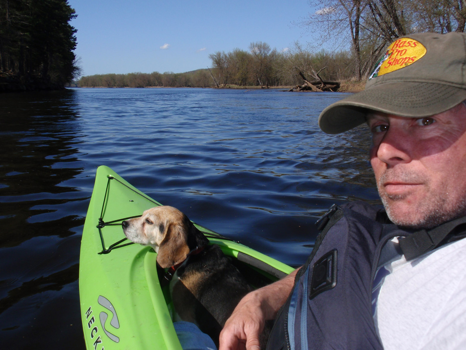 Freddie and Zulu on St. Croix River - April 2010