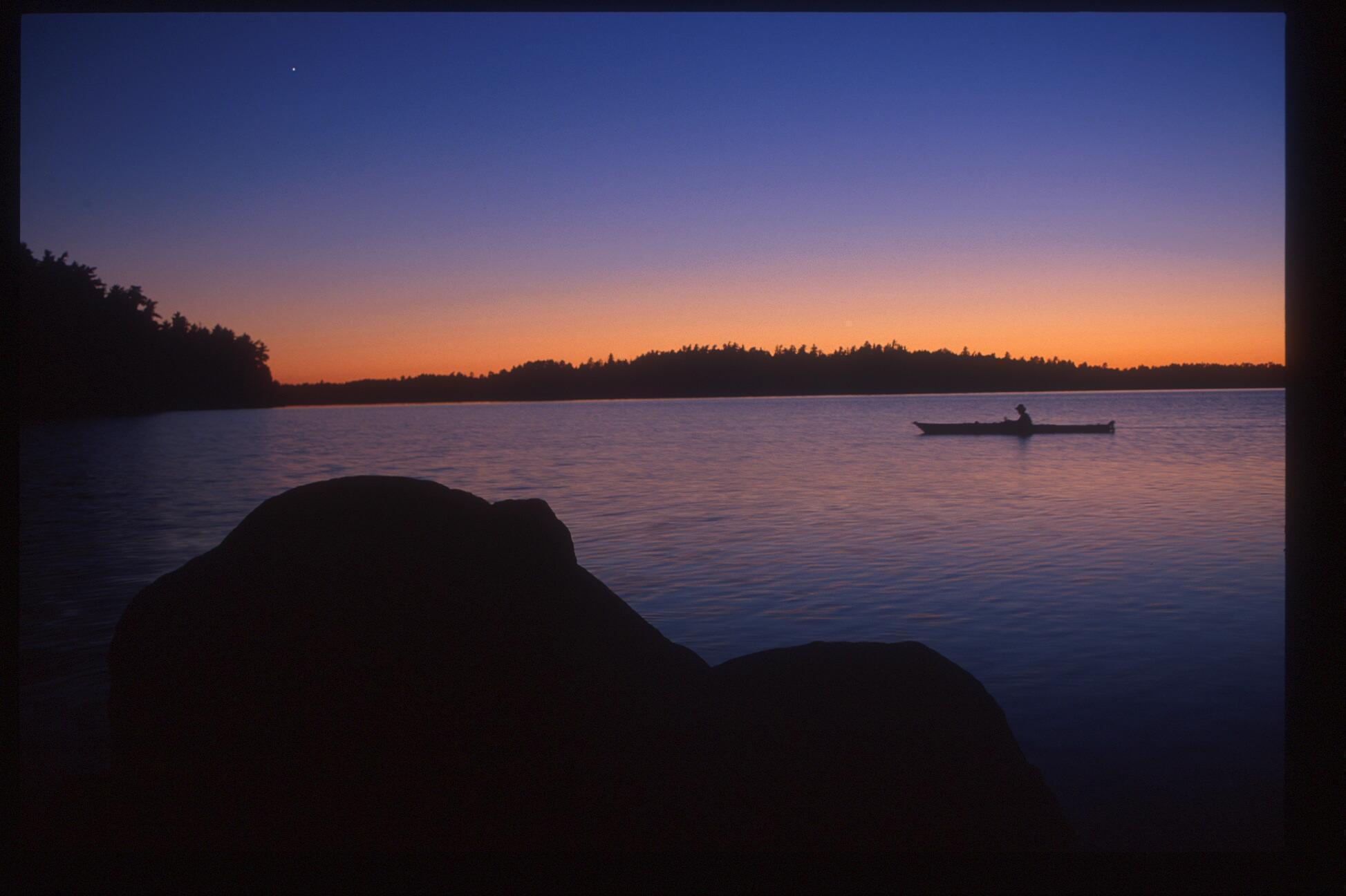 A kayak Sunset