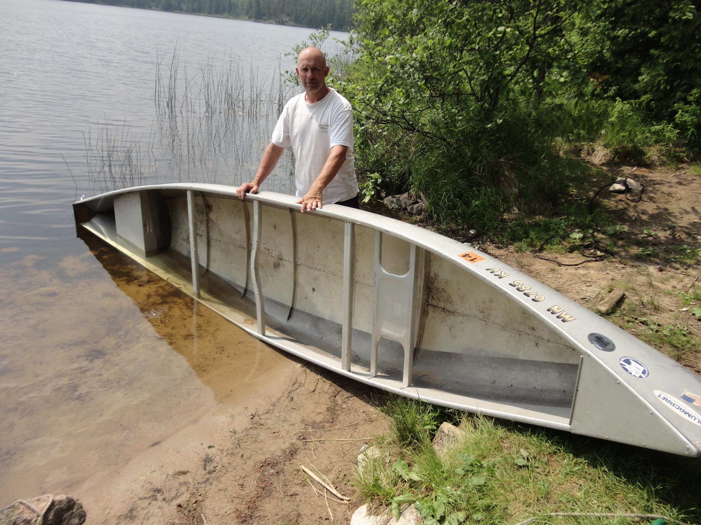 BWCA Square stern vs regular keeled canoes paddling ease