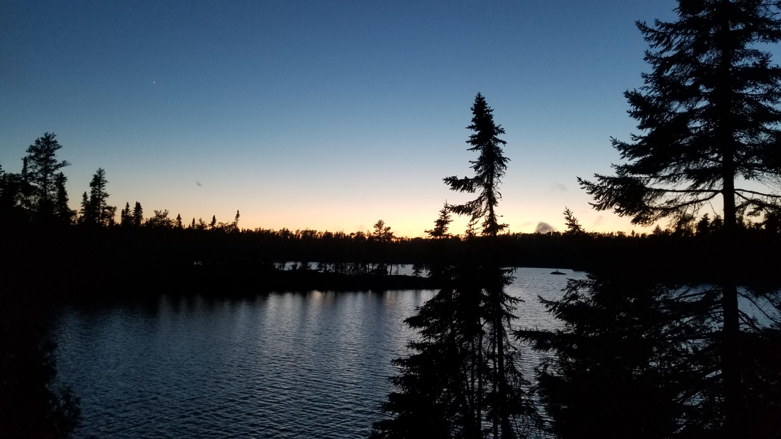 Our first evening in BWCA