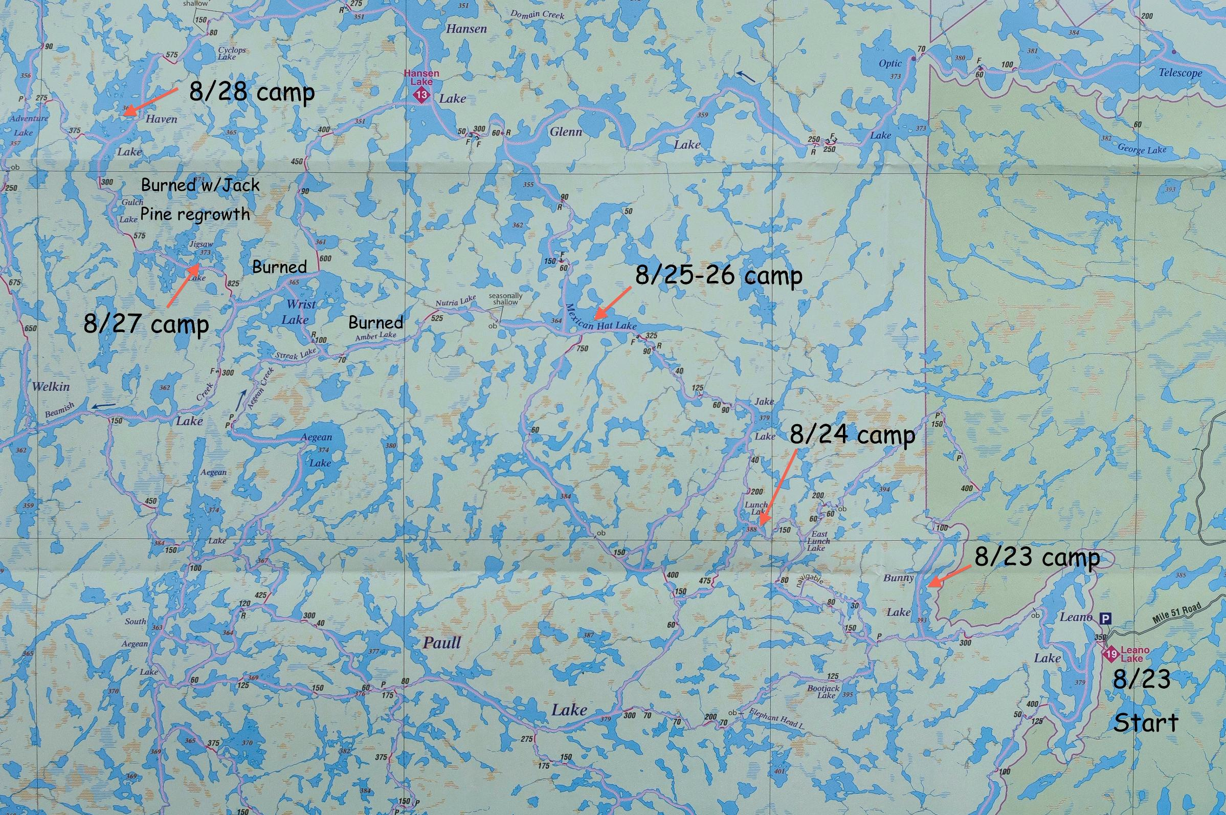 WCPP 2015 Trip Map