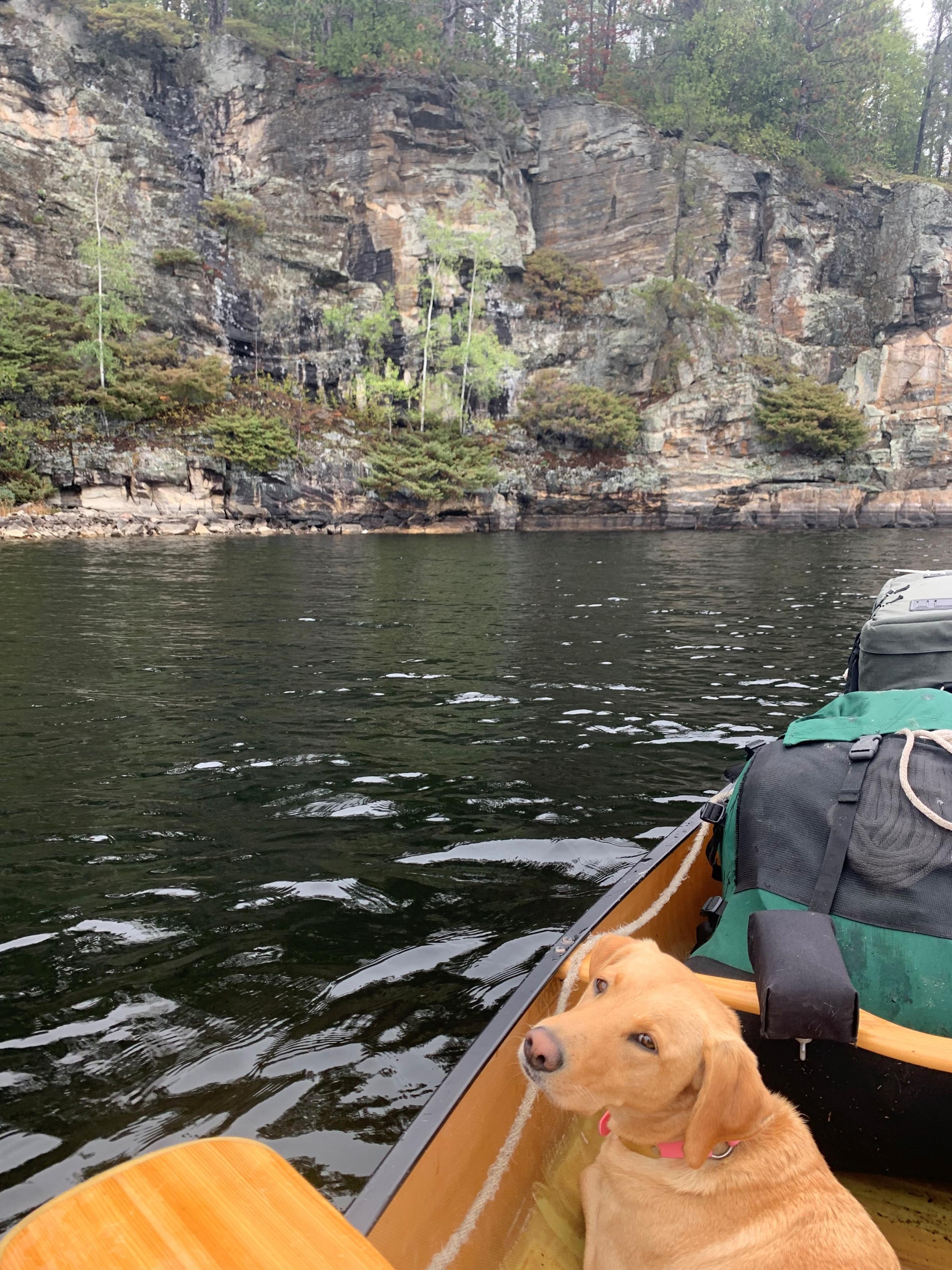 Bonnie on Quetico Lake, Oct 2021