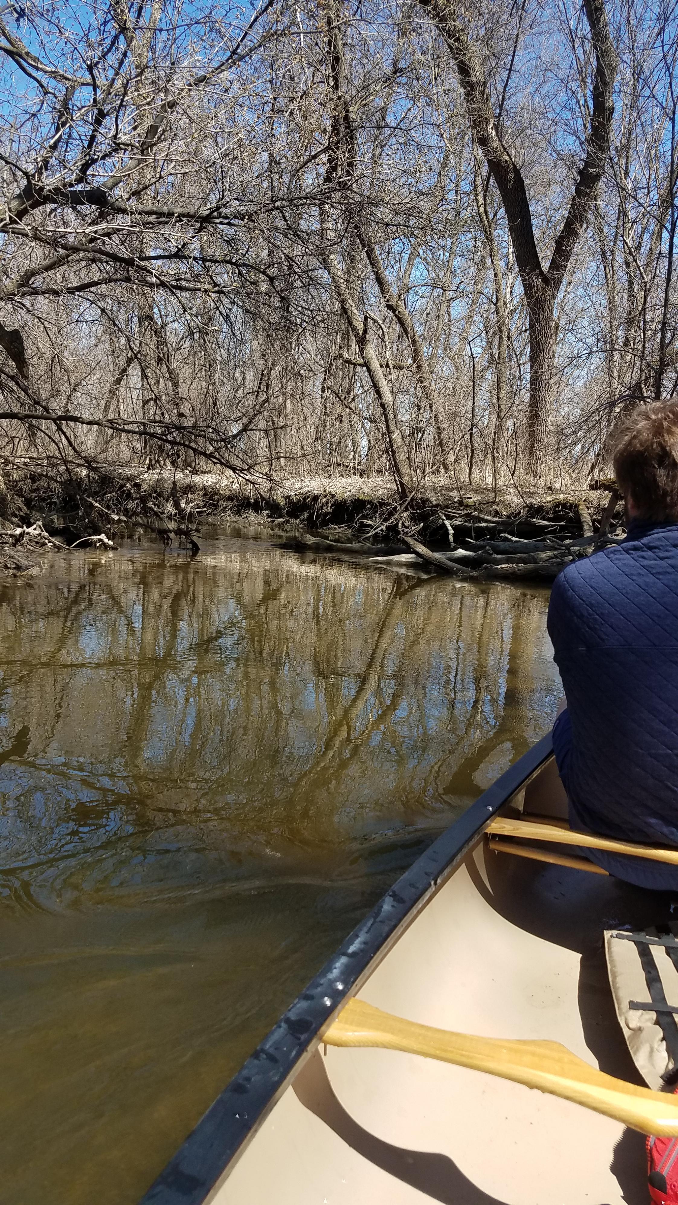 Pushing off into Elm Creek