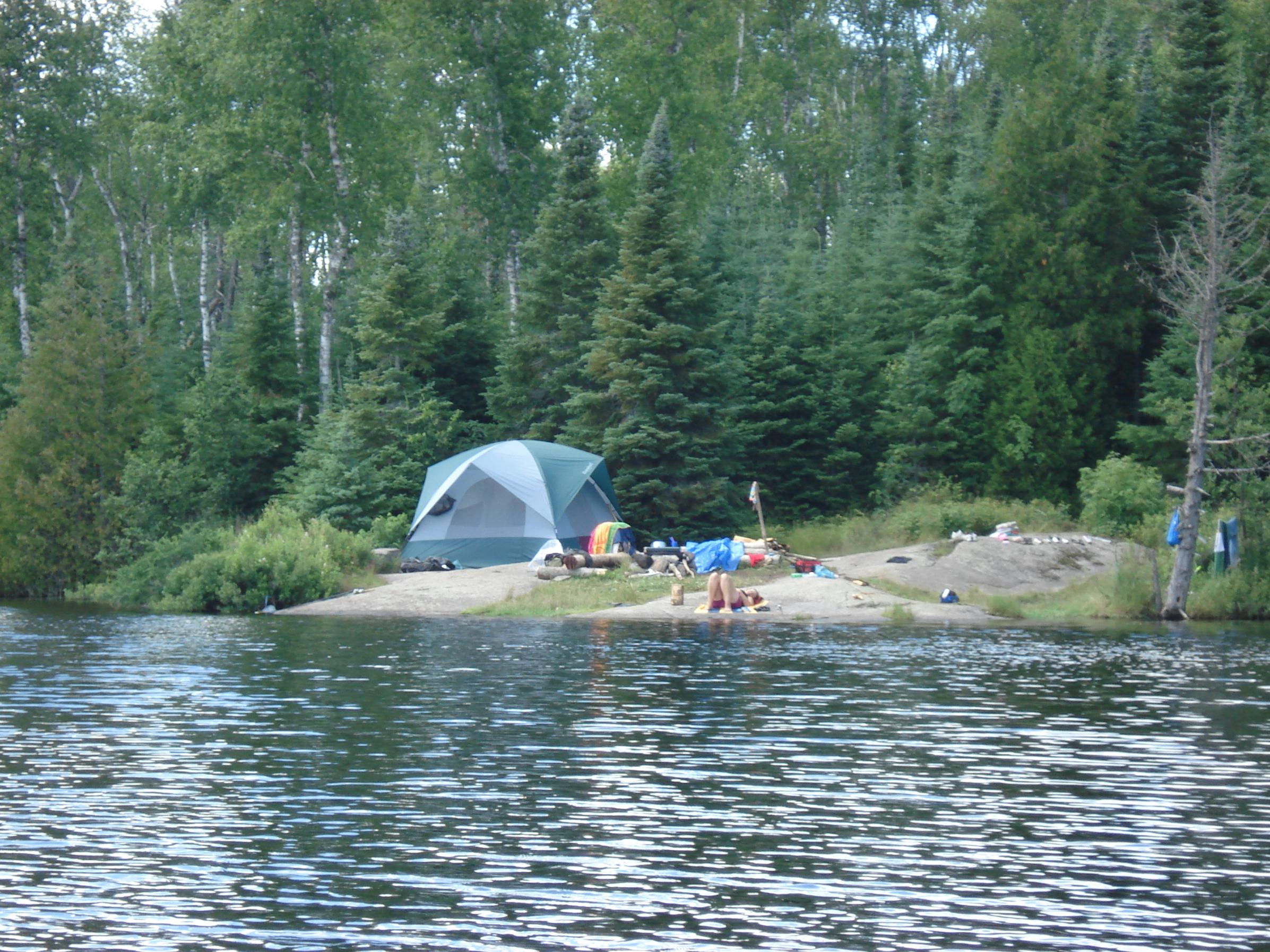Campsite From Water