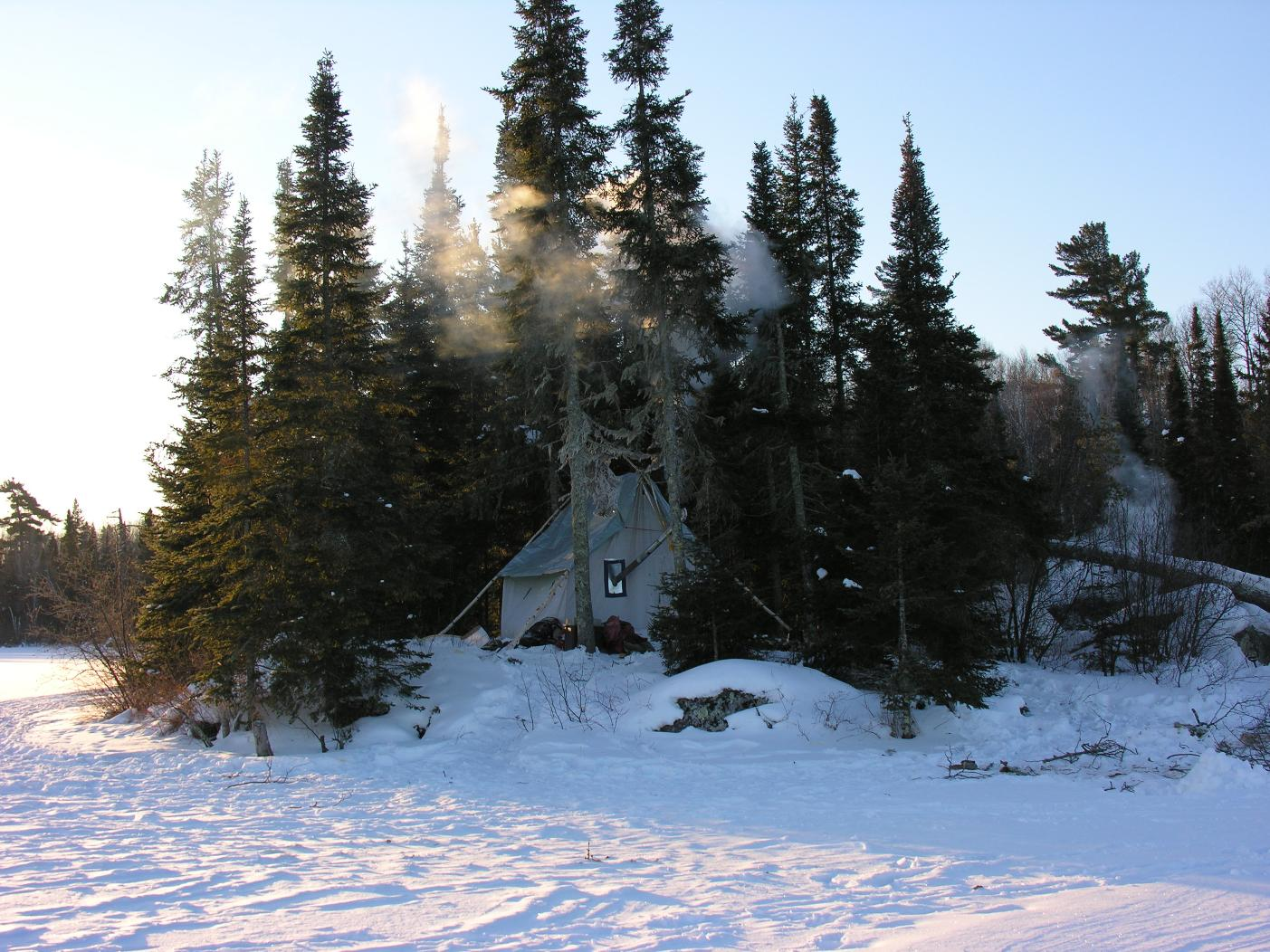 Bwca Stove In Tent Boundary Waters Winter Camping And