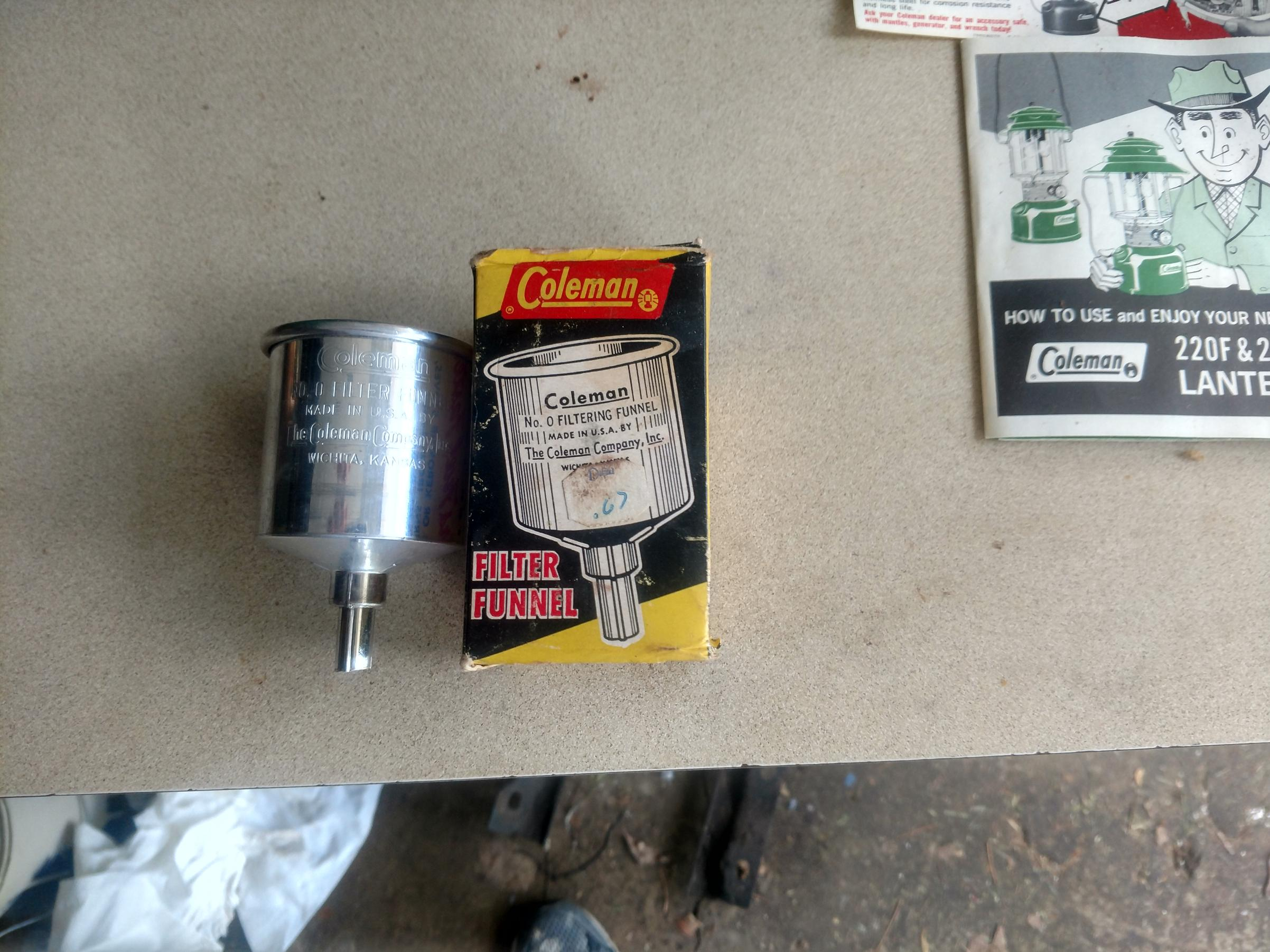 BWCA Old Coleman stove and lantern Boundary Waters Items For