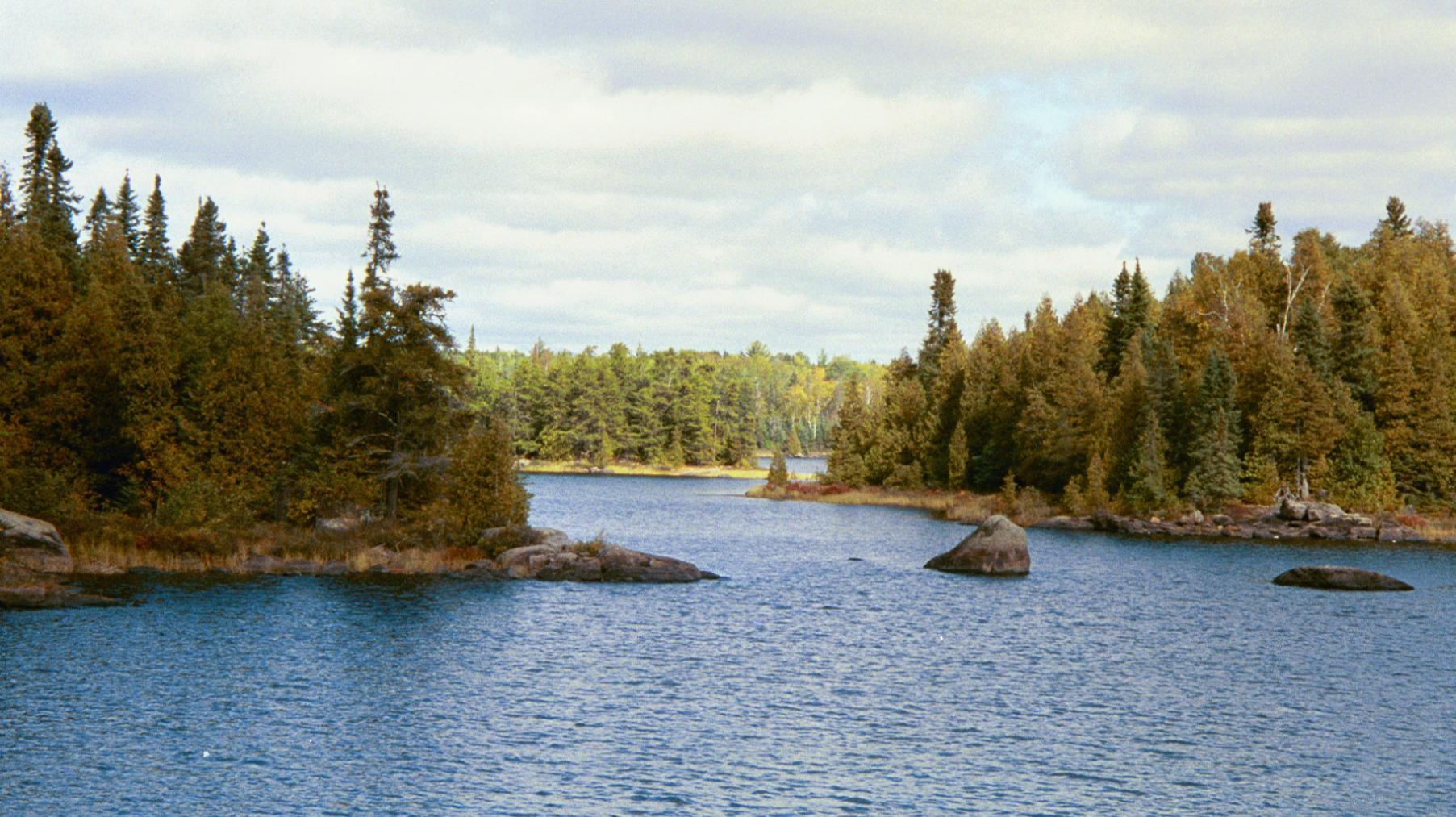 narrows between lakes 3 and 4