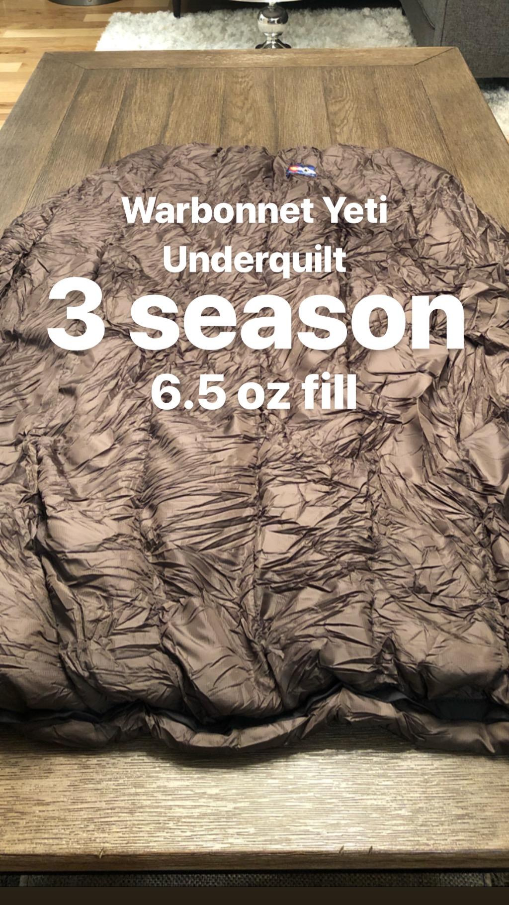 Warbonnet Underquilt