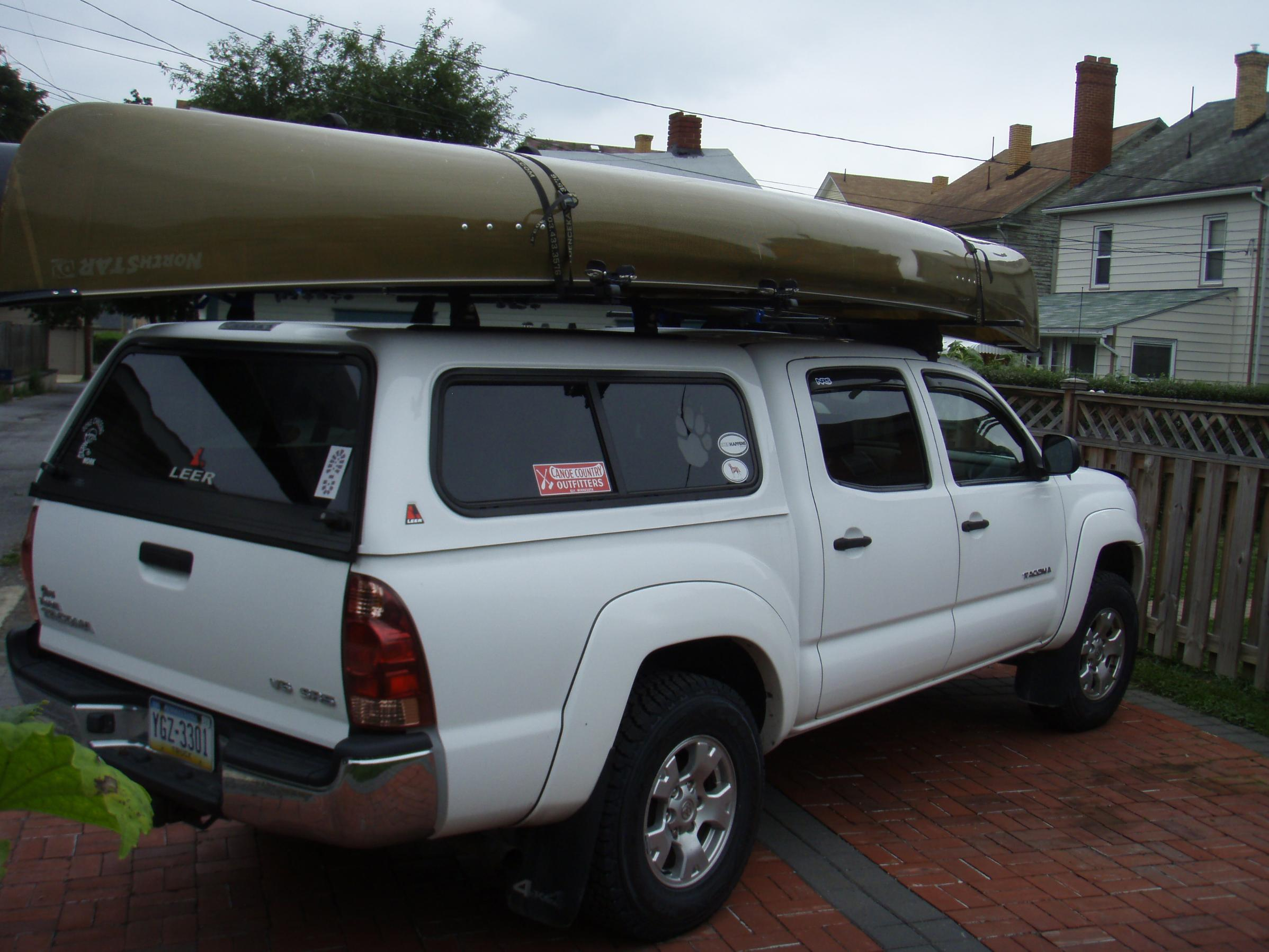 Bwca Crewcab Pickup With Topper Canoe Transport Question