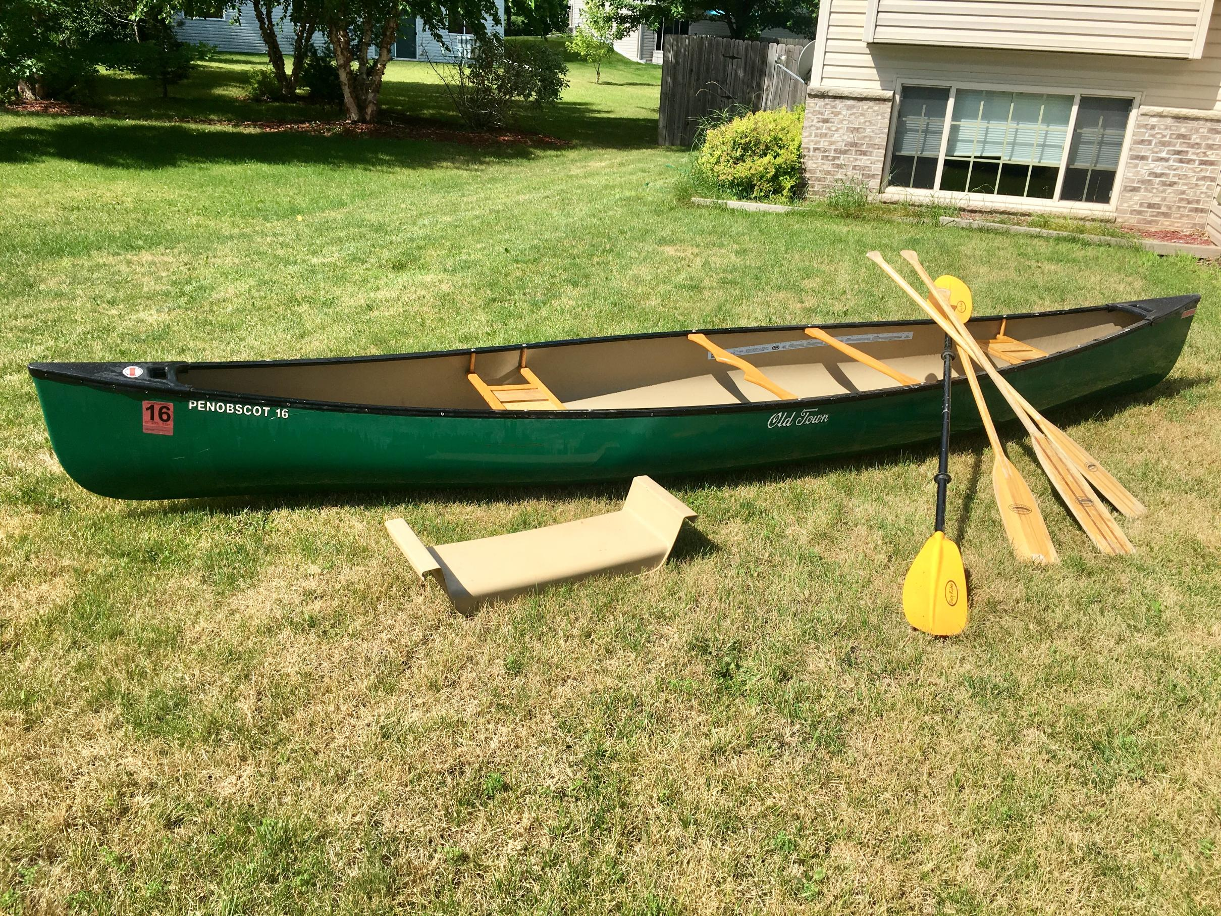 BWCA SOLD:Old Town Penobscot Royalex Tandem/Solo Canoe