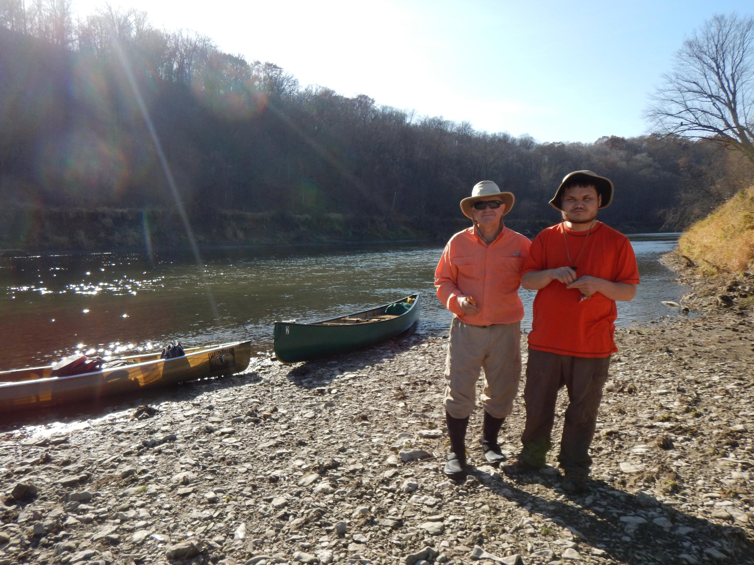 Turkey River with my Son