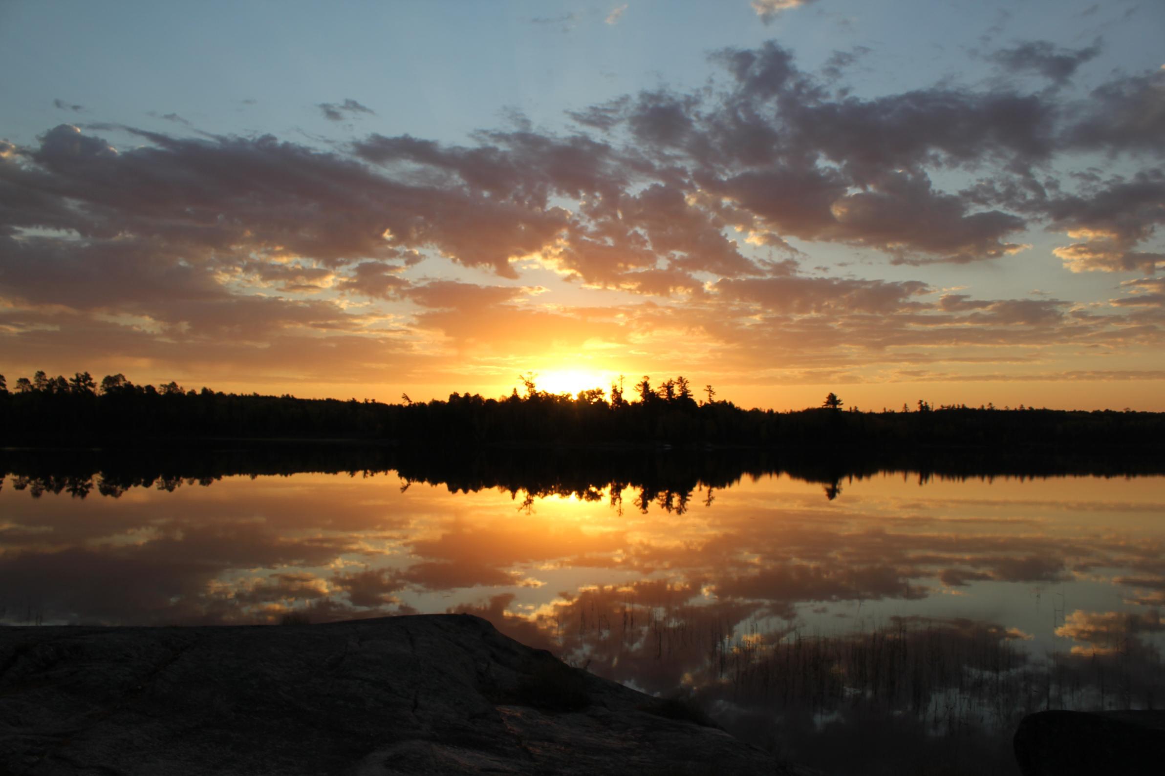 Sunset on Lake Agnes
