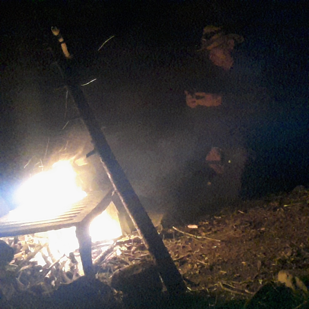 Me at our fire