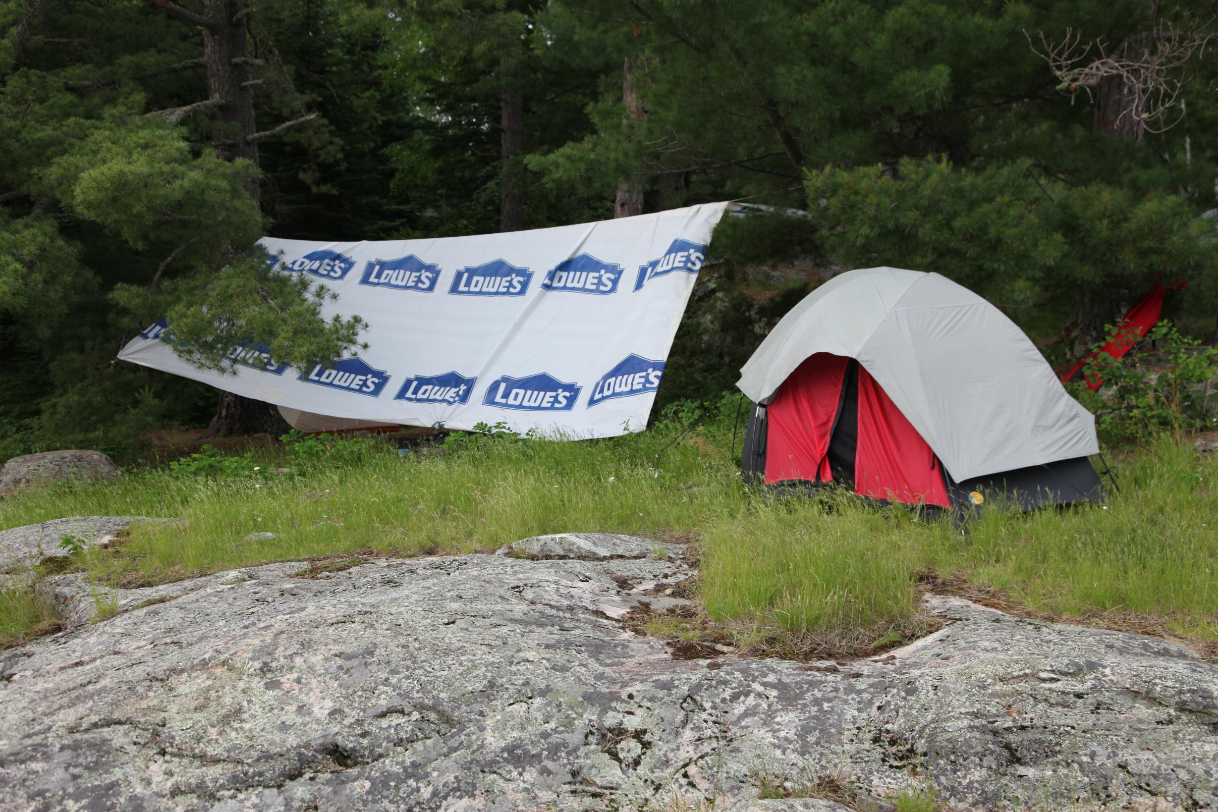 BWCA Tyvek with Loops and 10x12 Guide Gear Tarps Boundary Waters