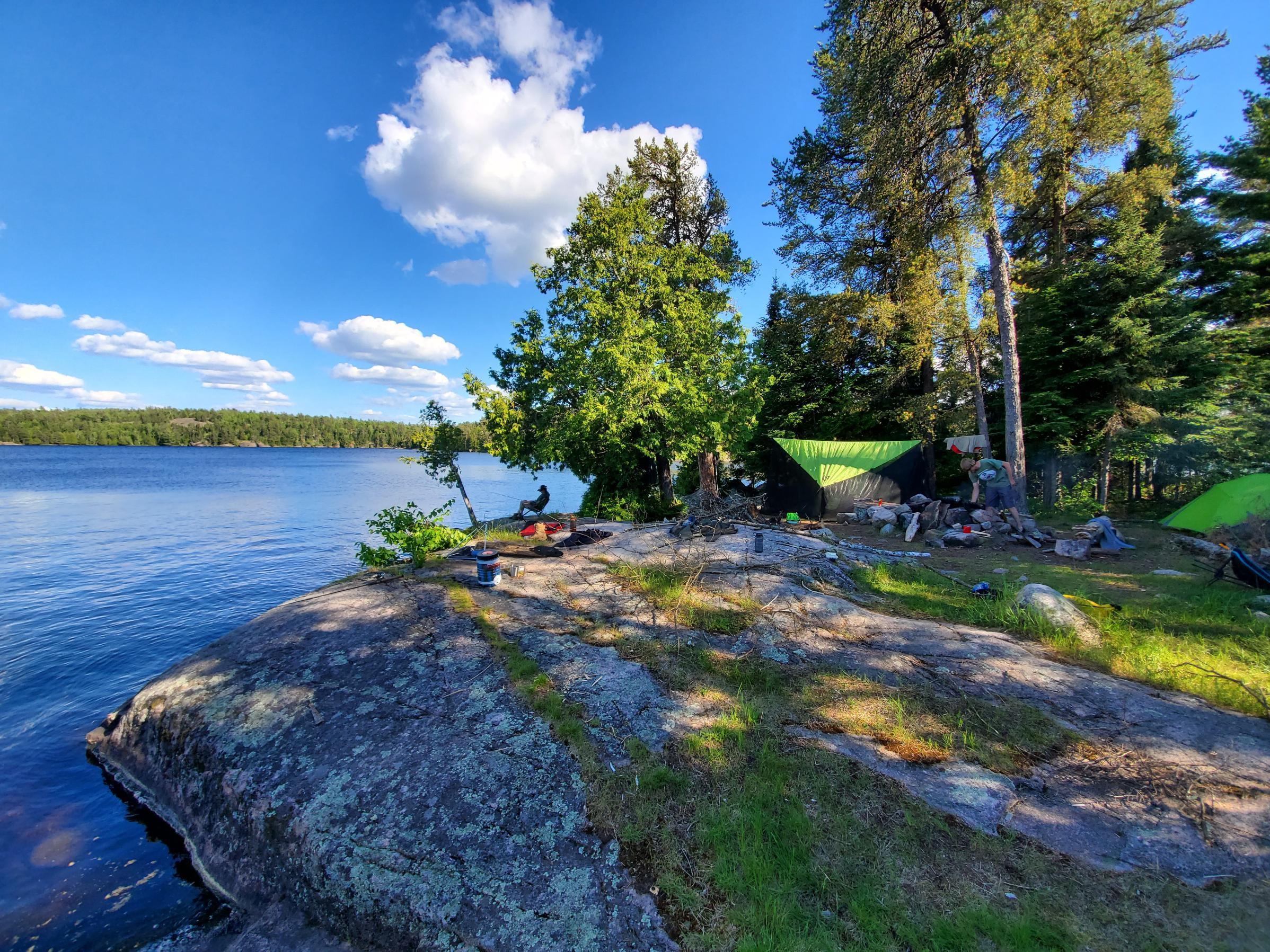 Our island campsite on Stuart
