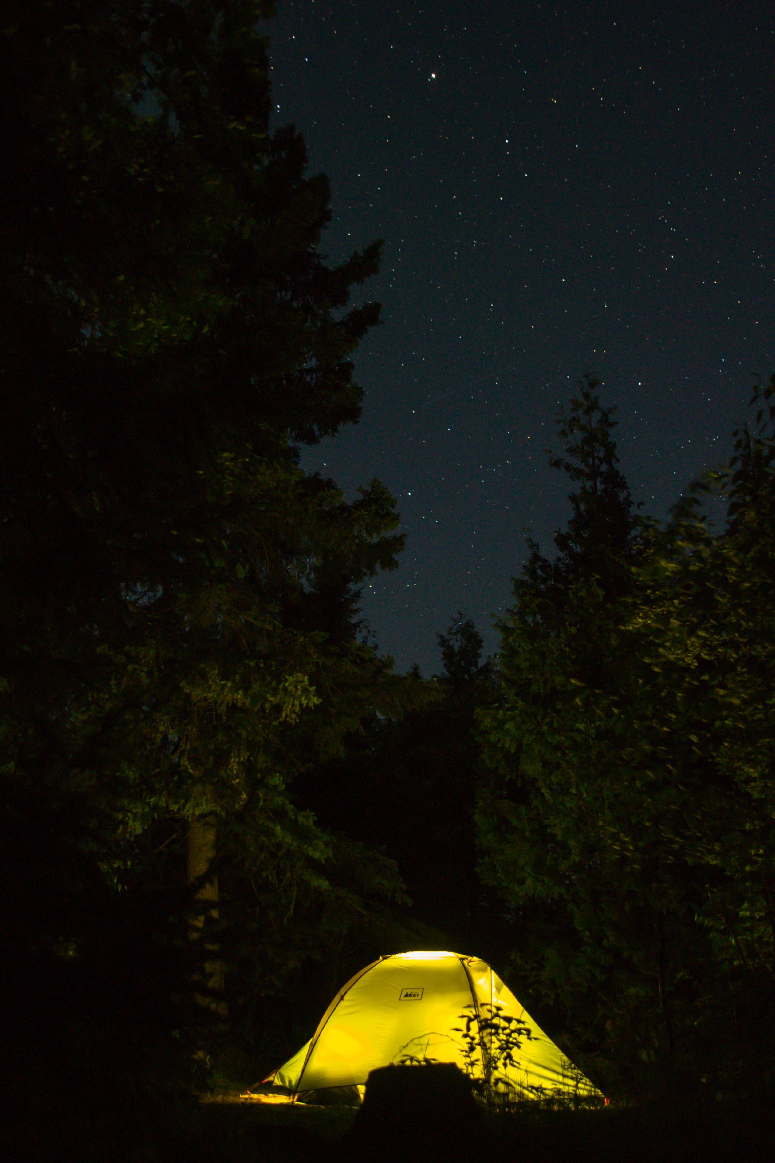 Ogish tent at night