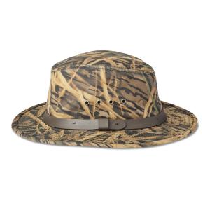Filson x Mossy OakA(R) Camo Tin Cloth Packer Hat - S - ShdwGrs