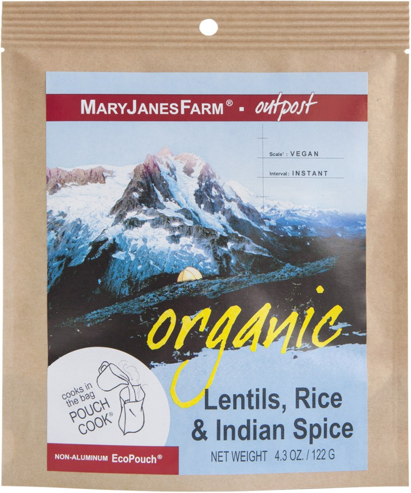 MaryJanesFarm Organic Lentils, Rice and Indian Spice - Single Serving