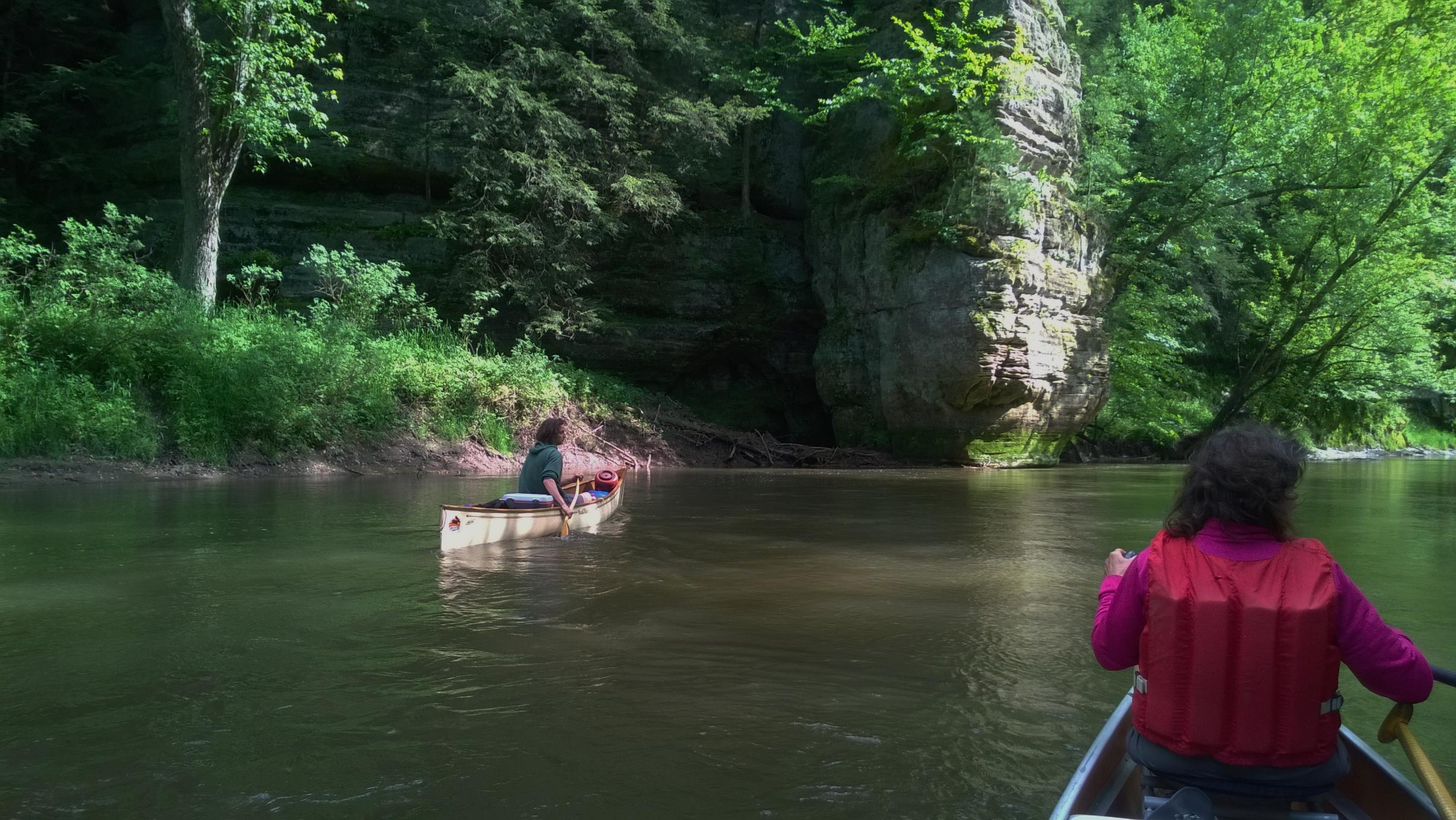 Anthony in the Mad River Traveler