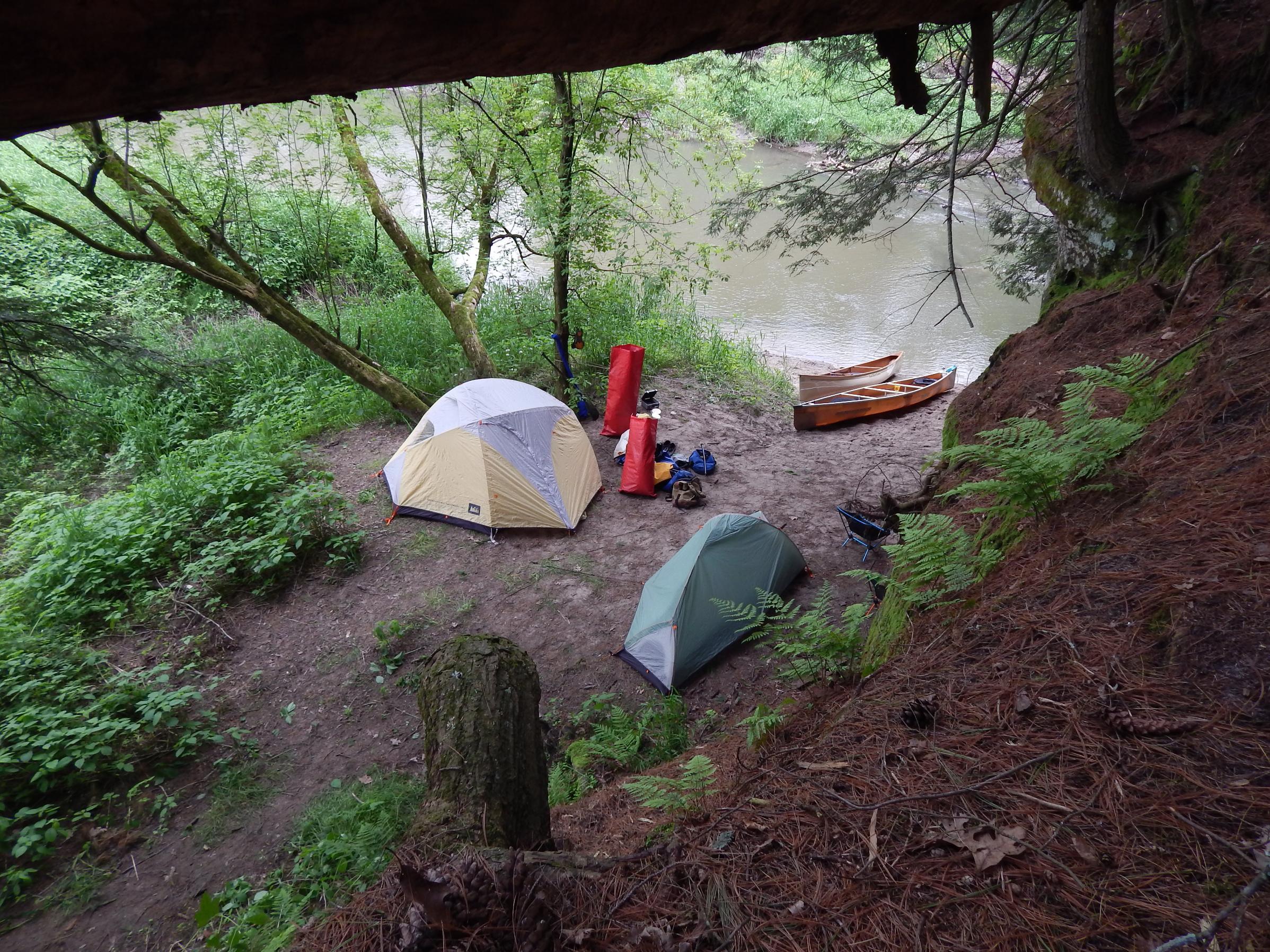 Undesignated campsite on the Kickapoo River