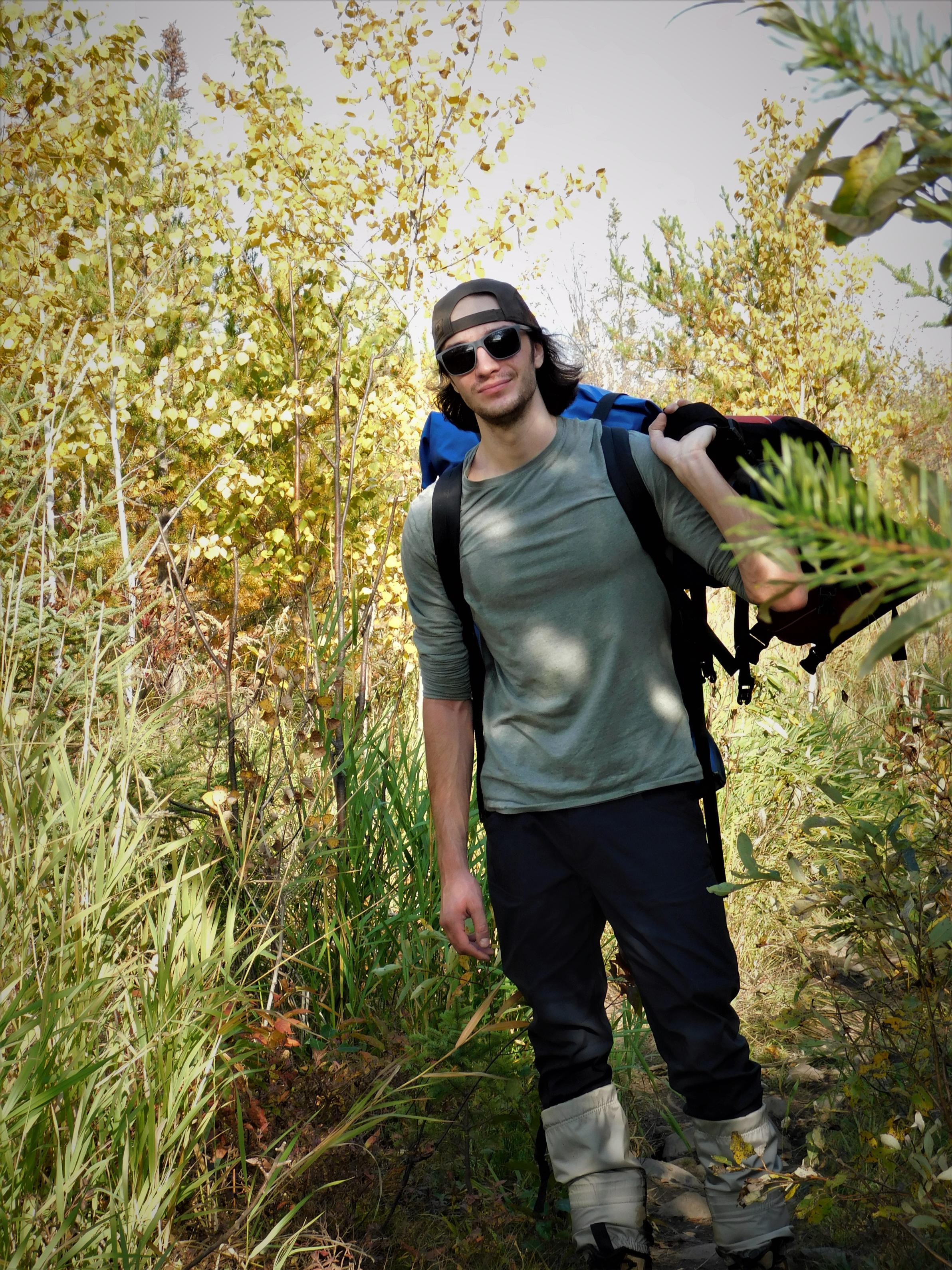 Son Anthony on the portage to Brandt Lake