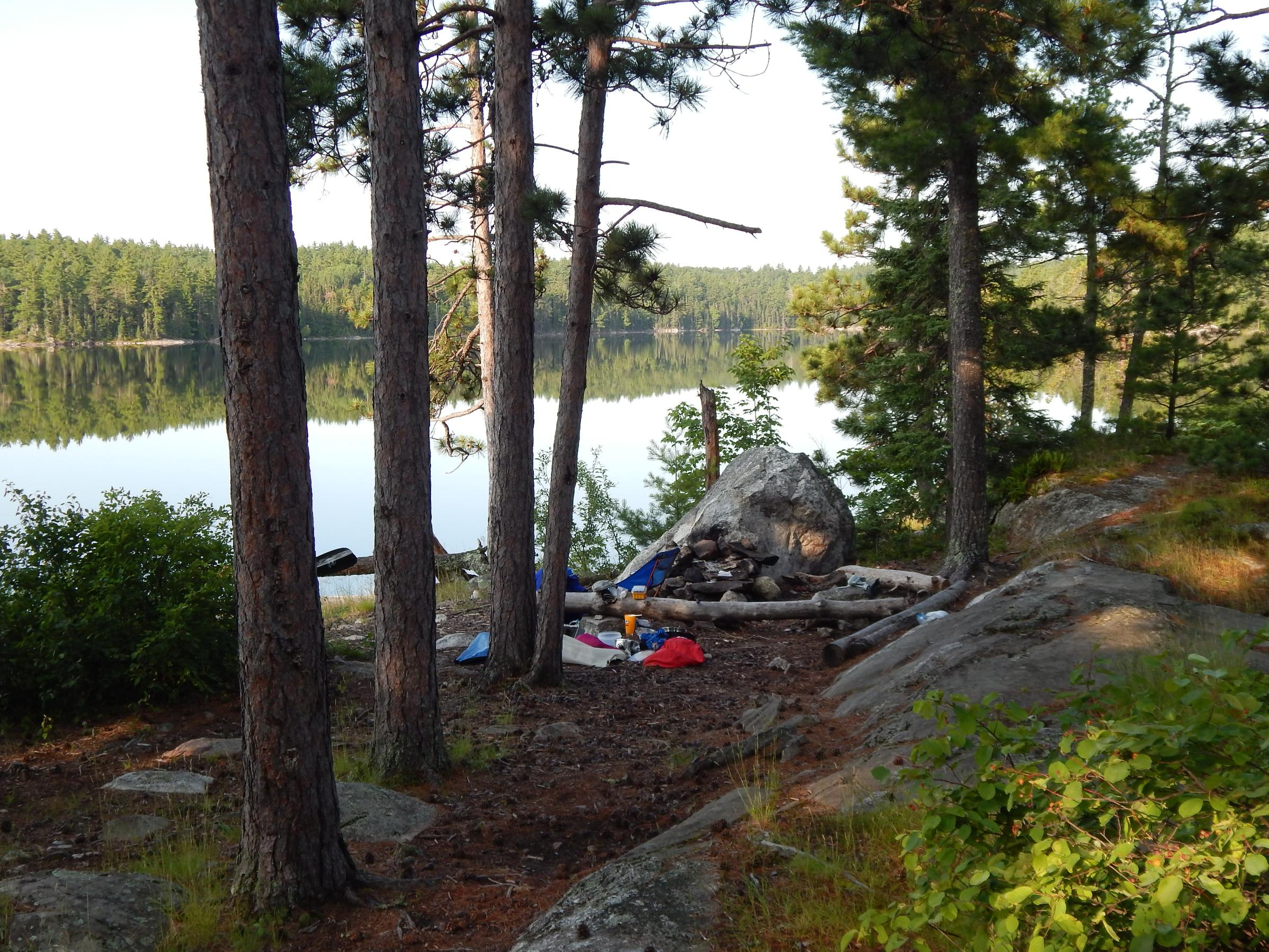 Quetico Lake Fireplace