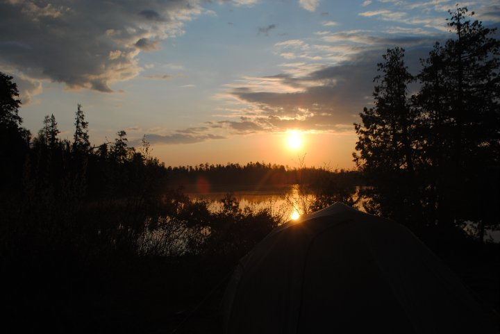 Dawn Over Tent
