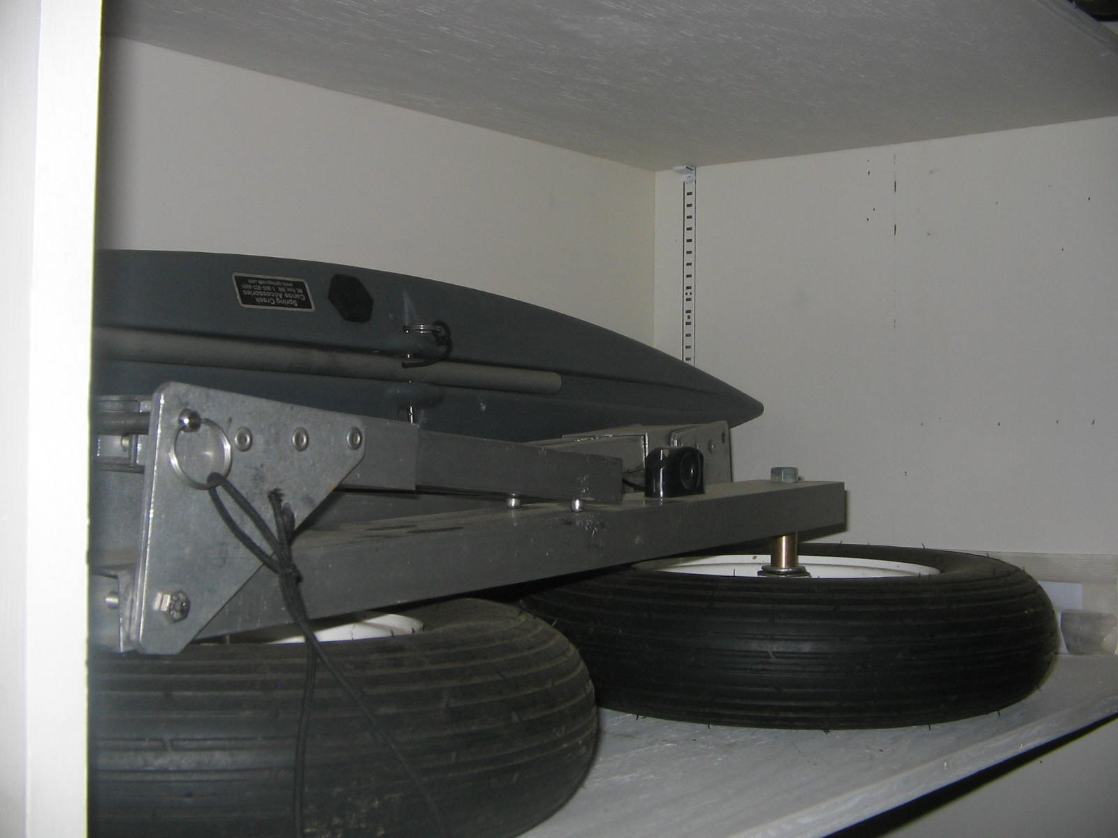 BWCA Grumman Sport boats (2), 6hp, trailer, portage wheels