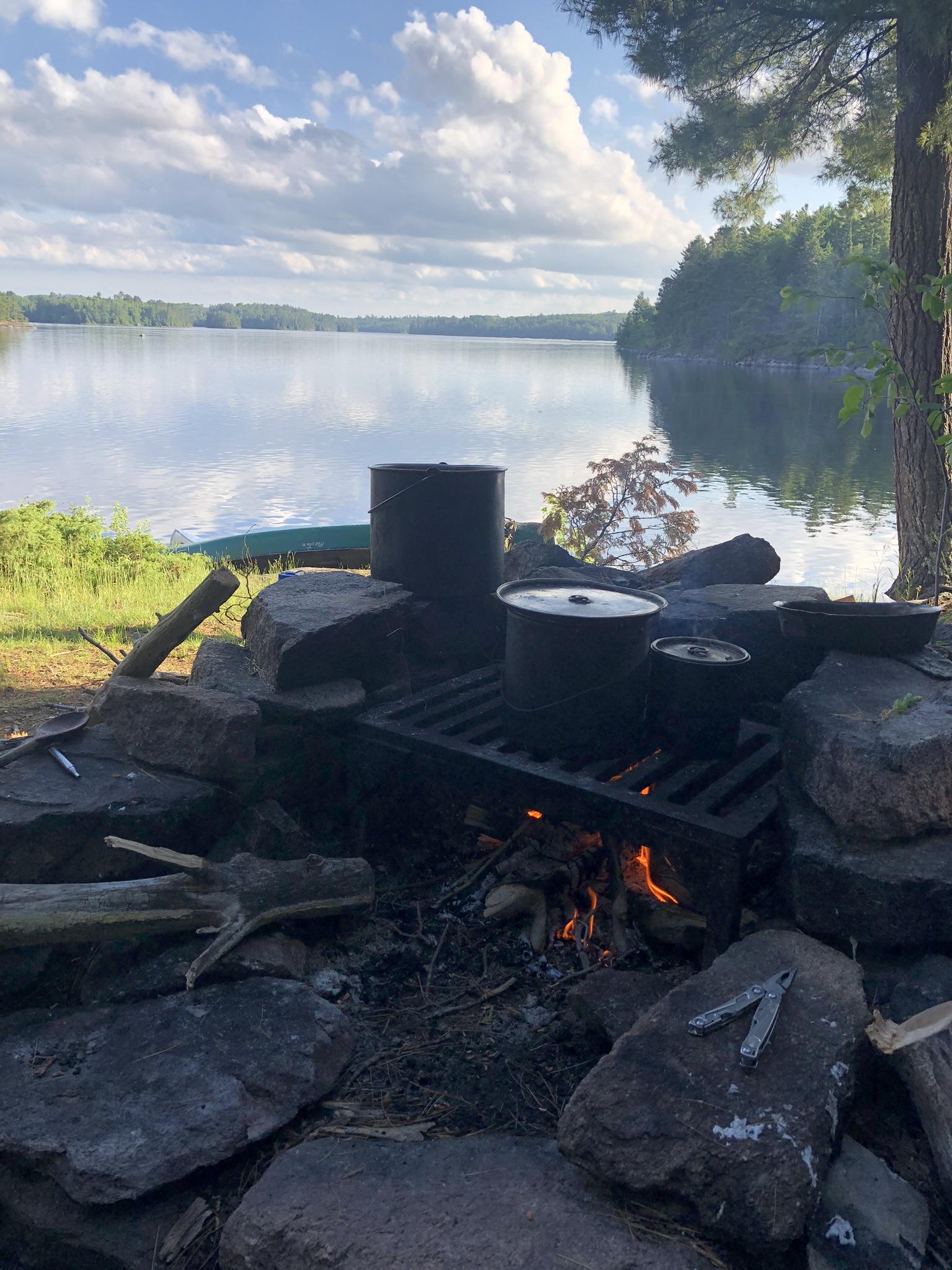 Dinner on Crooked Lake