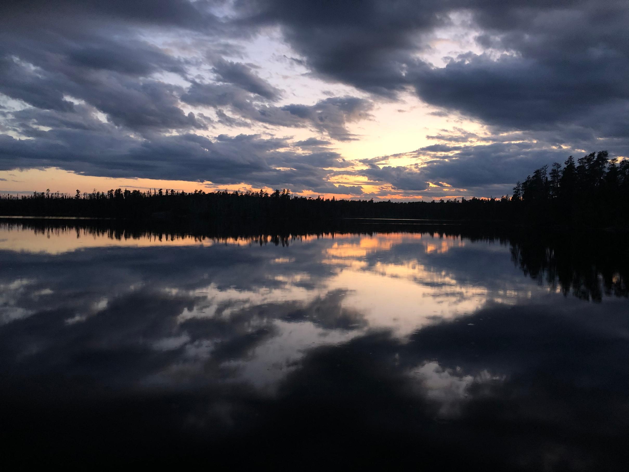 Lake Polly sunset