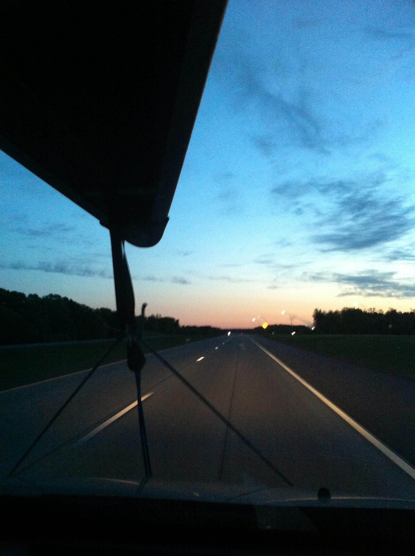 Heading north...