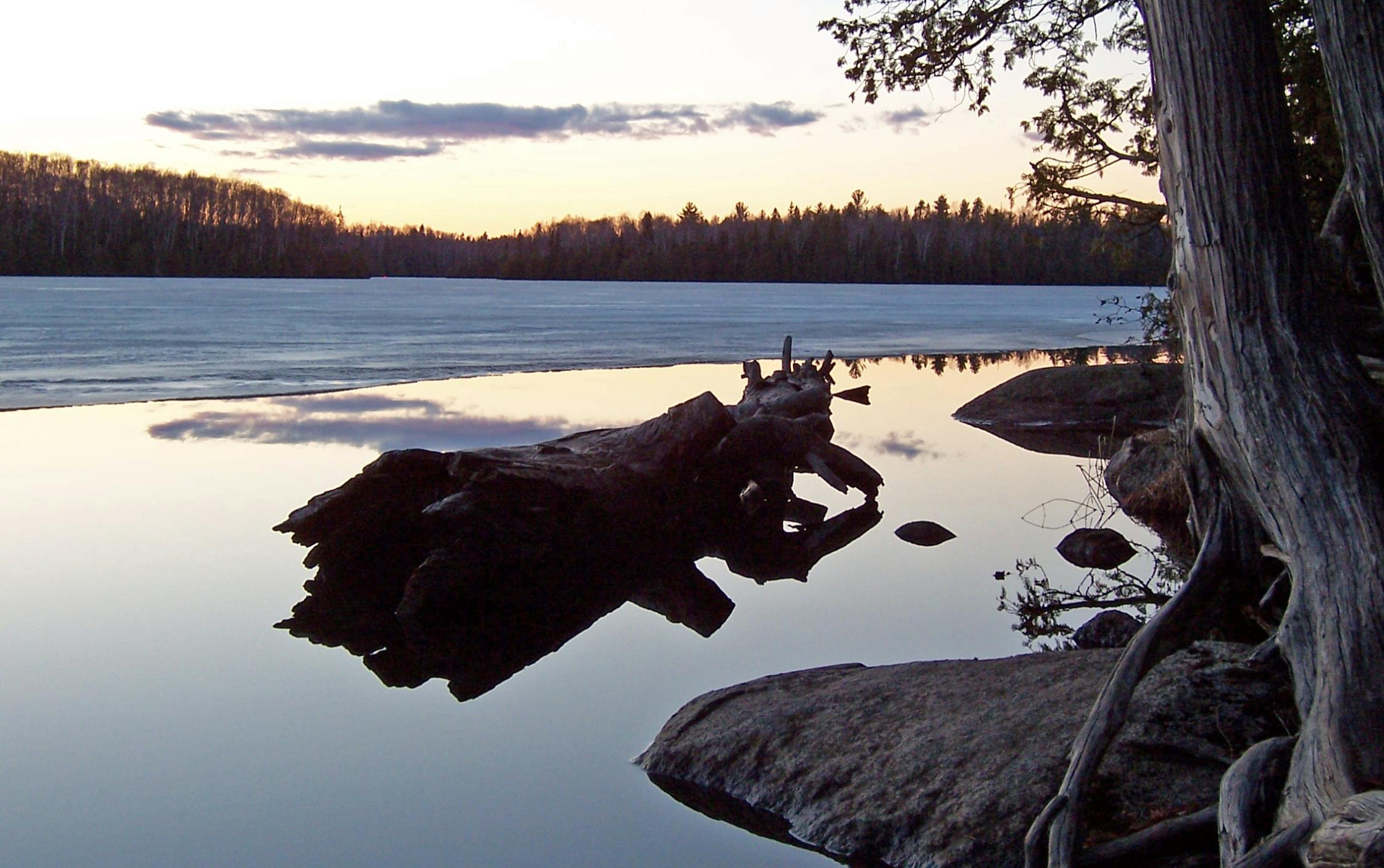 Sawbill Late Evening Ice