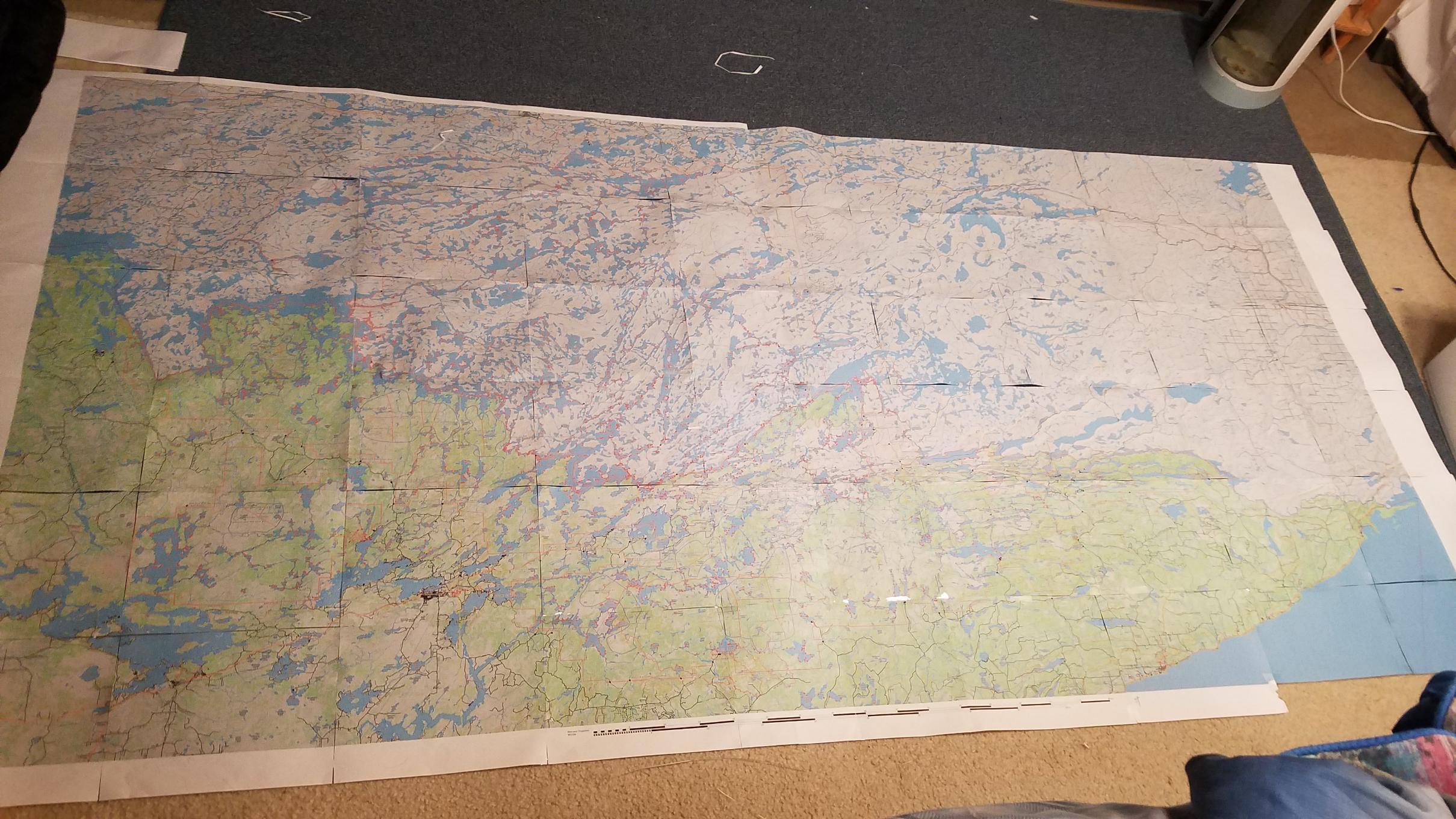 BWCA 94' x 48' Map