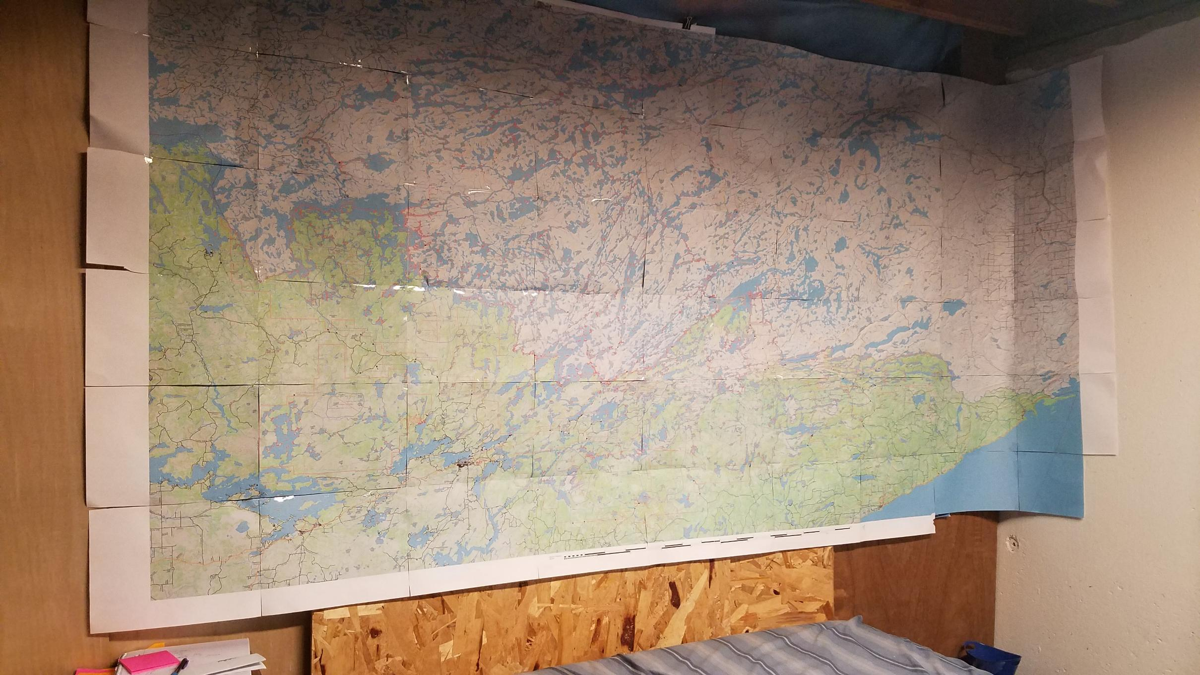 BWCA 94' x 48' Map on Wall